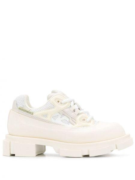 Кожаные кроссовки белый на шнуровке Both