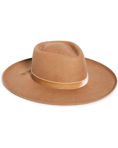 Brązowy kapelusz wełniany z diamentem Lack Of Color