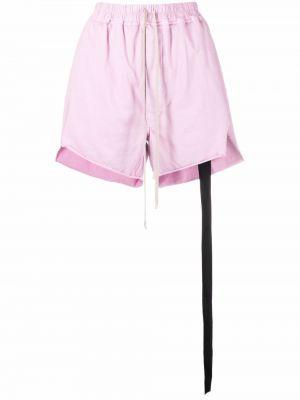 Розовые шорты на шнуровке Rick Owens Drkshdw