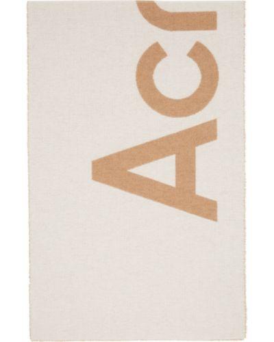 Шерстяной шарф - бежевый Acne Studios