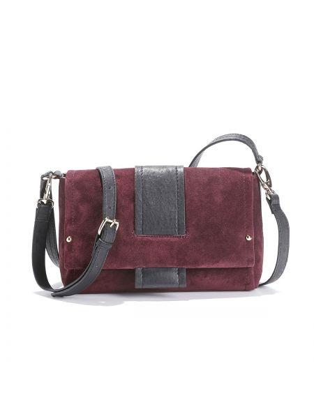 Кожаная сумка через плечо с подкладкой La Redoute Collections
