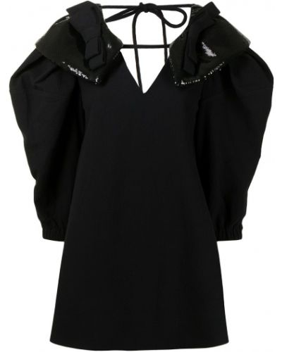 Czarna sukienka z dekoltem w serek Shushu/tong