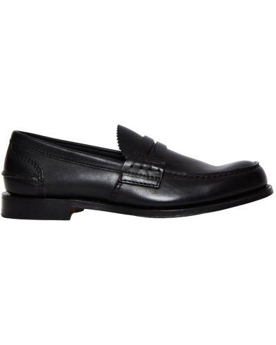 Czarne loafers skorzane Churchs