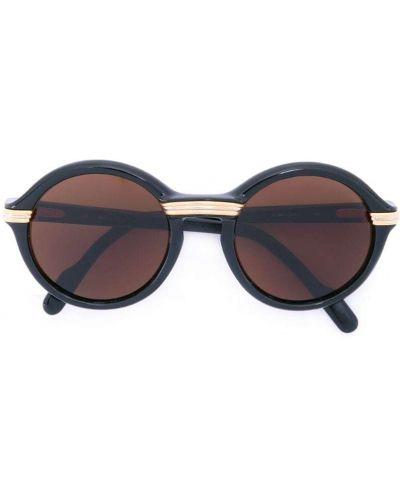 Солнцезащитные очки черные хаки Cartier Pre-owned