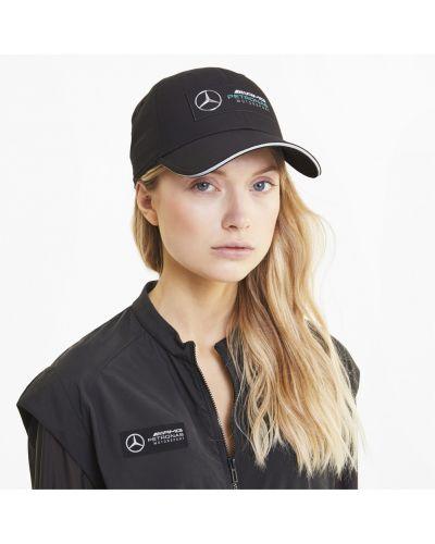 Спортивная черная кепка с вышивкой Puma