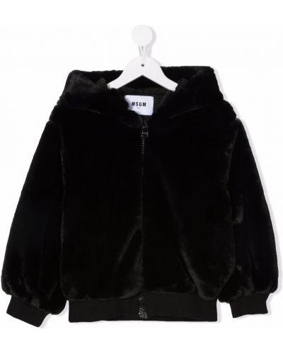 Czarna klasyczna kurtka Msgm Kids