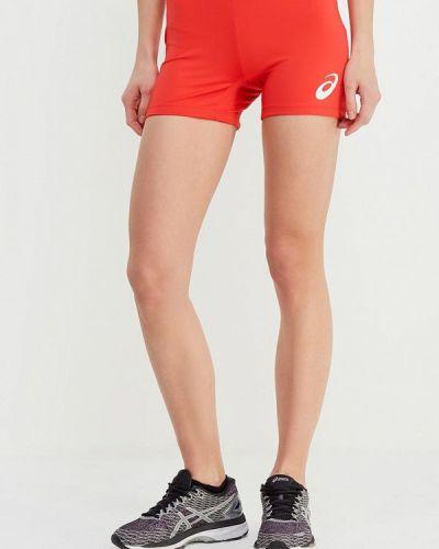 Красные спортивные шорты Asics