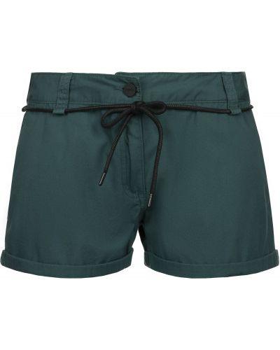 Прямые хлопковые зеленые шорты с поясом Termit