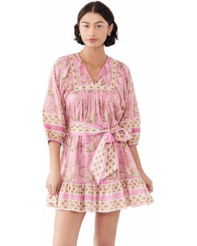 Текстильное платье мини на крючках с декольте Cleobella
