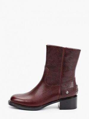 Бордовые демисезонные ботинки Basconi