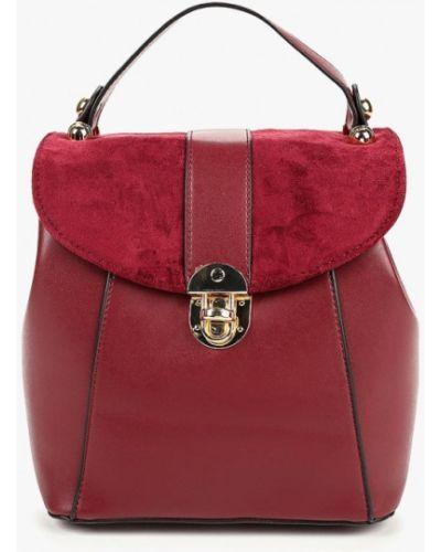 Кожаный сумка с ручками замшевая Zarina