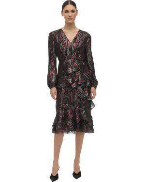 Платье миди макси с V-образным вырезом Saloni