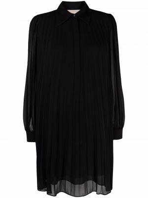 Платье макси с длинными рукавами - черное Michael Kors