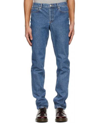 Niebieskie jeansy z paskiem srebrne A.p.c.