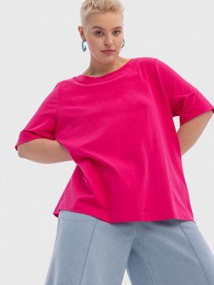 Розовая футболка с короткими рукавами Lessismore