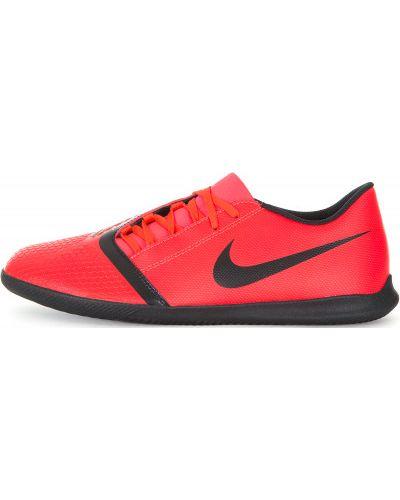 Бутсы кожаные красные Nike