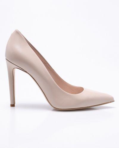 Туфли на высоком каблуке кожаные на каблуке Gino Rossi