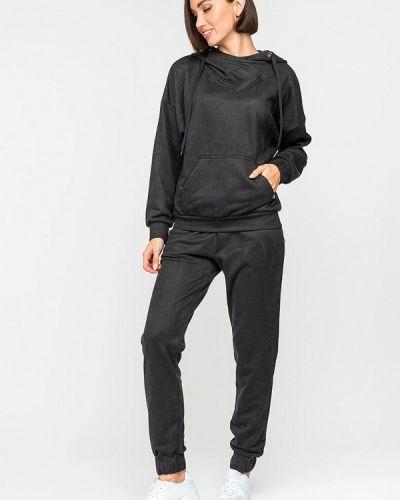 Костюмный черный спортивный костюм Gloss