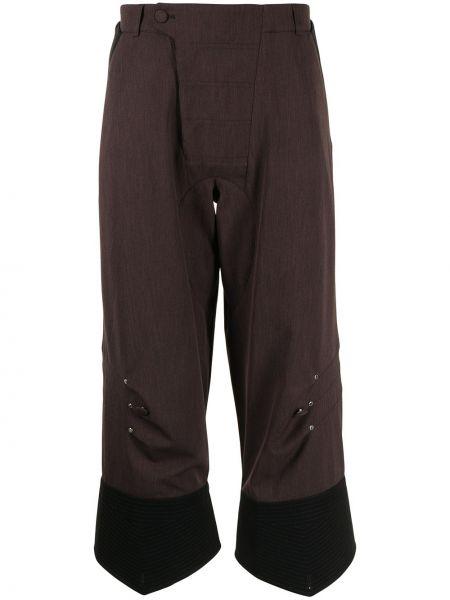 Czarne spodnie z paskiem Kiko Kostadinov