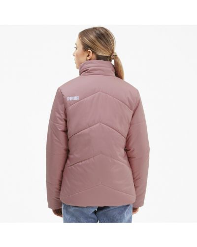 Тонкая розовая куртка с надписью Puma
