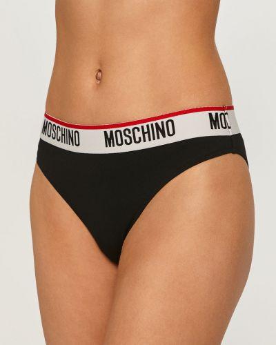 Czarne majtki bawełniane Moschino Underwear