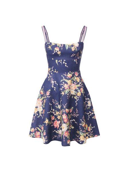 Платье мини с цветочным принтом пляжное Zimmermann