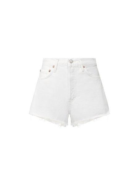 Джинсовые шорты - белые Agolde