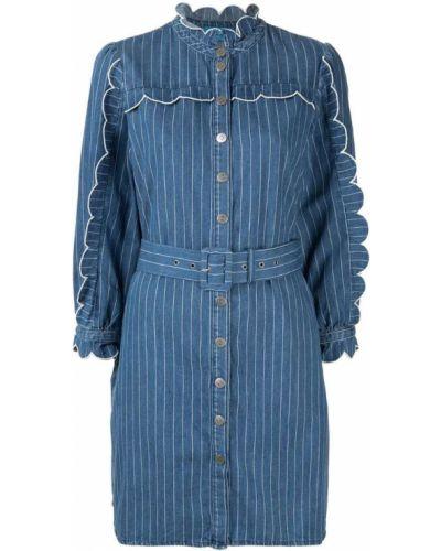 Джинсовое платье миди - синее Mih Jeans