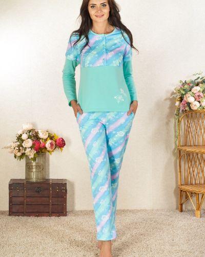 Пижама с брюками с начесом из футера Lena Basco