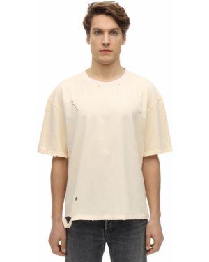 Biały t-shirt bawełniany oversize Other