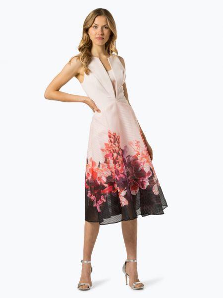 Różowa sukienka wieczorowa z printem Coast