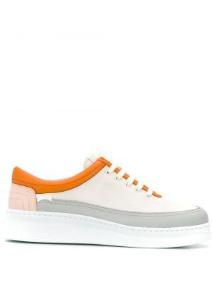 Кожаные кроссовки на шнуровке со вставками Camper
