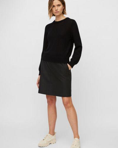 Czarna spódnica mini bawełniana bez zapięcia Marc O Polo