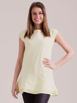 Tunika bawełniana - żółta Fashionhunters