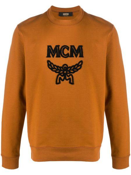 Bawełna bawełna brązowy bluza z długimi rękawami Mcm