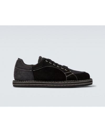 Czarne sneakersy skorzane Jacquemus