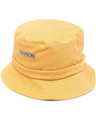 Хлопковая желтая панама узкого кроя Jacquemus