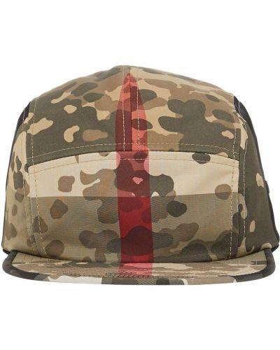 Zielony nylon czapka z haftem Burberry