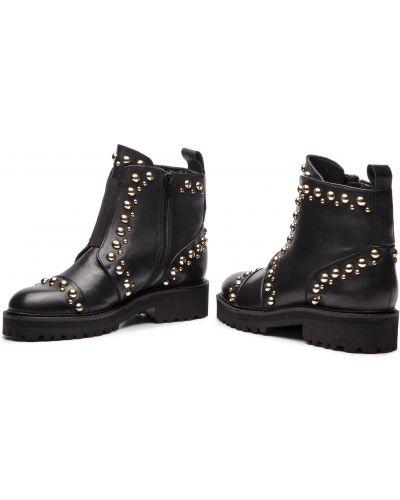 Кожаные ботинки - черные Quazi