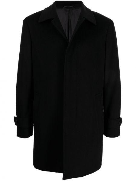 Czarny z kaszmiru płaszcz Gieves & Hawkes
