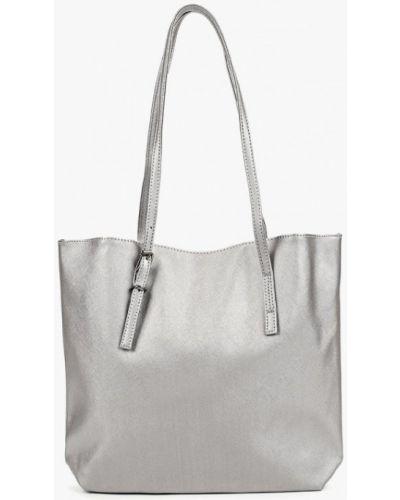Кожаная сумка из искусственной кожи серебряный Piazza Italia