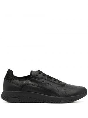 Кожаные кроссовки - черные Tommy Hilfiger