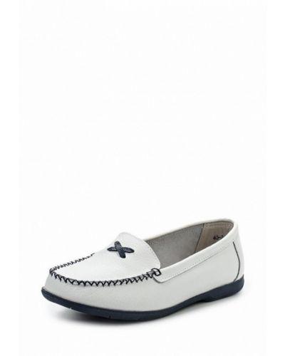 Белые кожаные мокасины Zenden Comfort