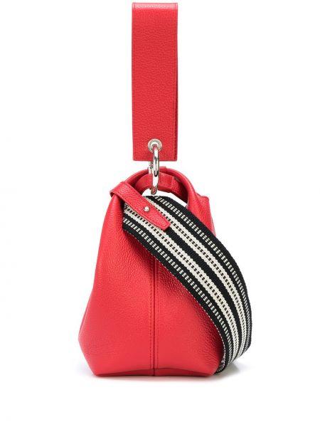 Кожаная с ремешком красная кожаная сумка Elena Ghisellini