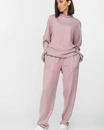 Костюмный розовый вязаный костюм Gloss