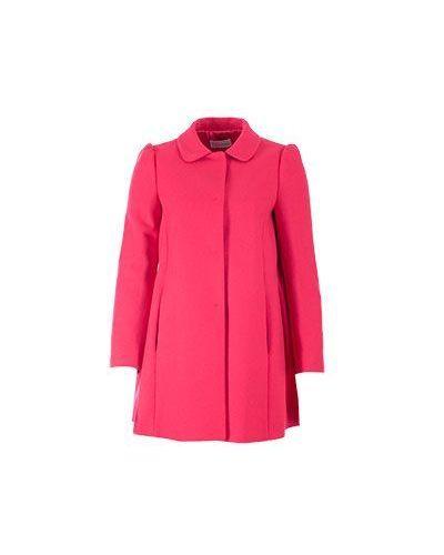 Длинное пальто осеннее шерстяное Valentino Red