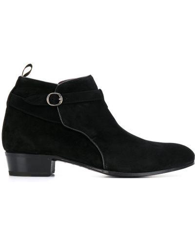 Черные треккинговые ботинки с пряжкой Lidfort