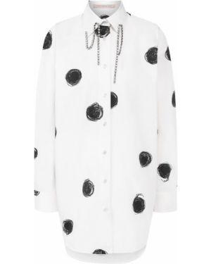 Рубашка белая в горошек Christopher Kane