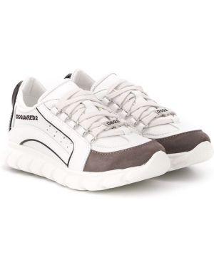 Sneakersy z logo białe Dsquared2 Kids
