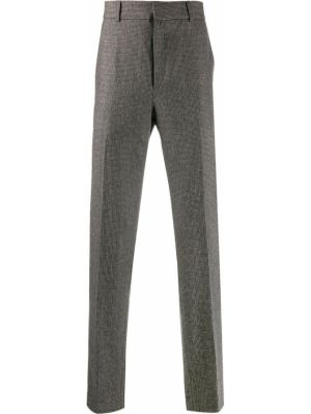 Коричневые прямые брюки с карманами новогодние Harmony Paris